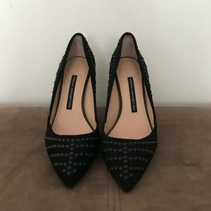 French Connection studded pumps